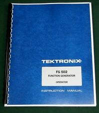 Tektronix Fg 502 Operator Amp Service Manual 11x17 Foldouts Amp Protective Covers