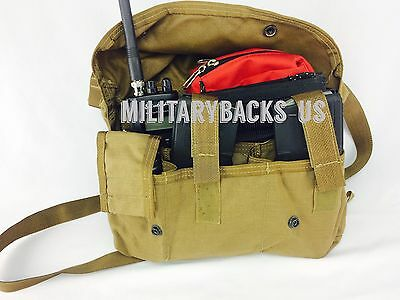 NEW military USMC coyote brown molle II bandoleer pouch general purpose ammo kit