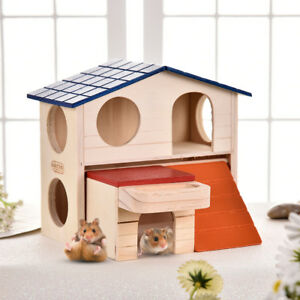Wooden-House-Villa-Cage-Exercise-Toys-for-Hamster-Hedgehog-Mouse-Rat-Guinea-Pig