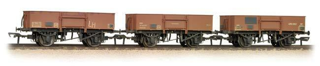 Bachmann Bachmann Bachmann 38-340 Set 13T High Sided Steel Open Wagons BR Late Bauxite weatherosso dd6708
