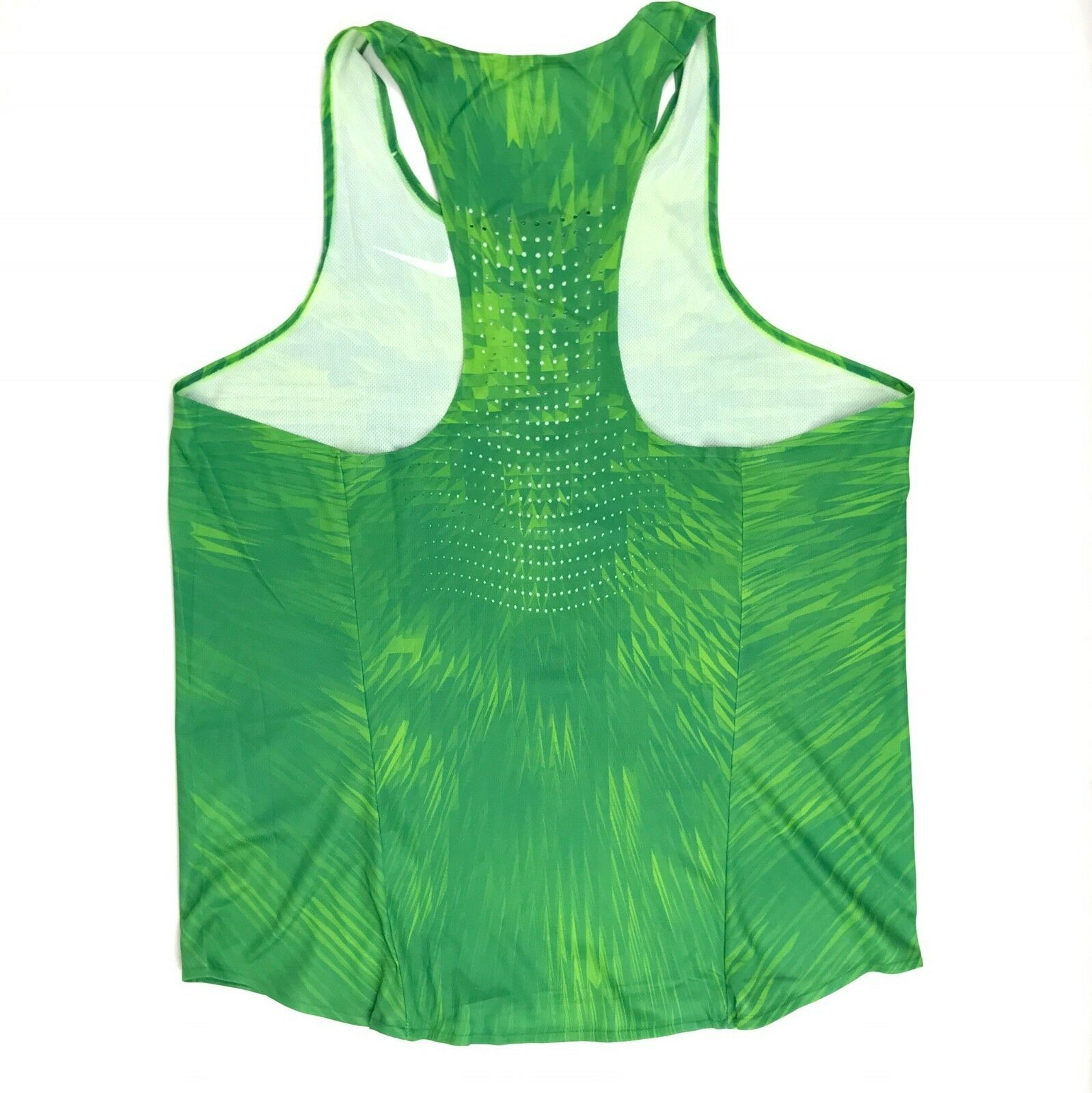 fb483cf94a8bc Nike Men s Large Digital Race Day Elite Running Singlet Track Green ...
