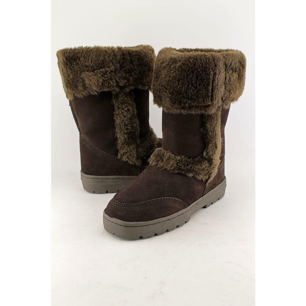 Style & Co. Witty Cold Weather Suede Fur Boots, Size 8M, Dark Brown