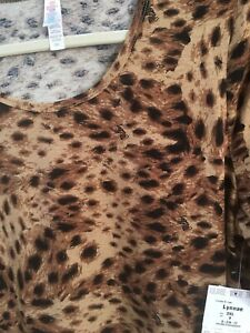 Lularoe Animal Print Lynnae Nwts 2x AArqpnWg
