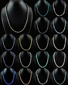 Natural-Moonstone-Rose-Quartz-Amazonite-Pyrite-Heishi-Beads-Handmade-Necklace