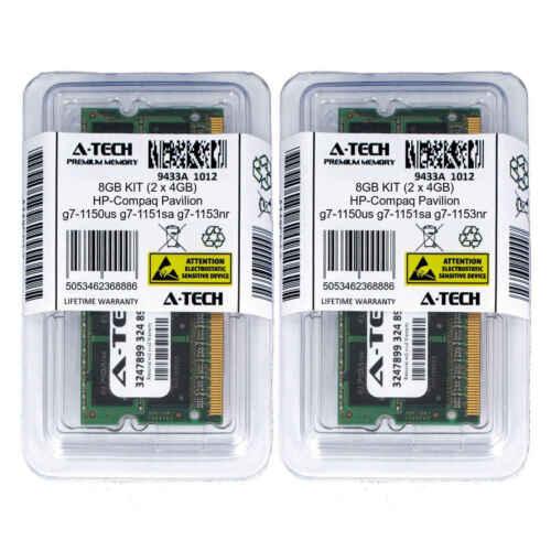 8GB KIT 2 x 4GB HP Compaq Pavilion g7-1150us g7-1151sa g7-1153nr Ram Memory