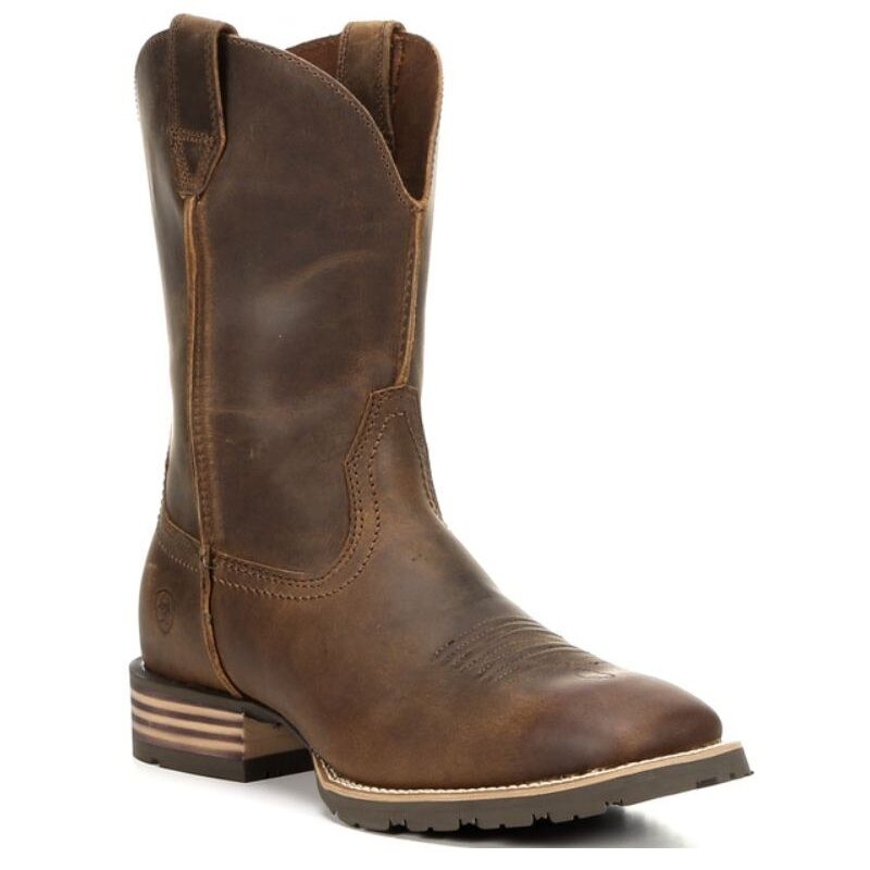 Ariat Mens Hybrid Street Side Powder braun Square Toe Cowboy Stiefel 10016289 NIB