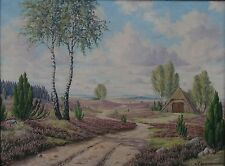 """K. vino Schneider, 1956 """"Heide paesaggio"""", Olio/lino, G (242/12105)"""
