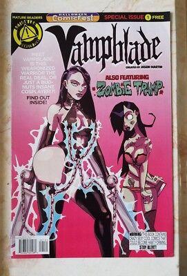 RARE Vampblade Comicfest #1 Zombie Tramp Appearance Dan Mendoza HTF FCBD HOT