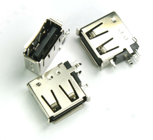 100pcs Female USB Receptacle Type A Connector PCB Vertical Mount Socket SSCI
