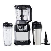 Nutri Ninja Auto Iq Compact Blender W/ Food Processor Bowl + To-go Cups   Bl492w on sale