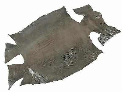 Real Genuine Crocodile Caiman belly Skin Leather Hide Pelt grey for bags shoes