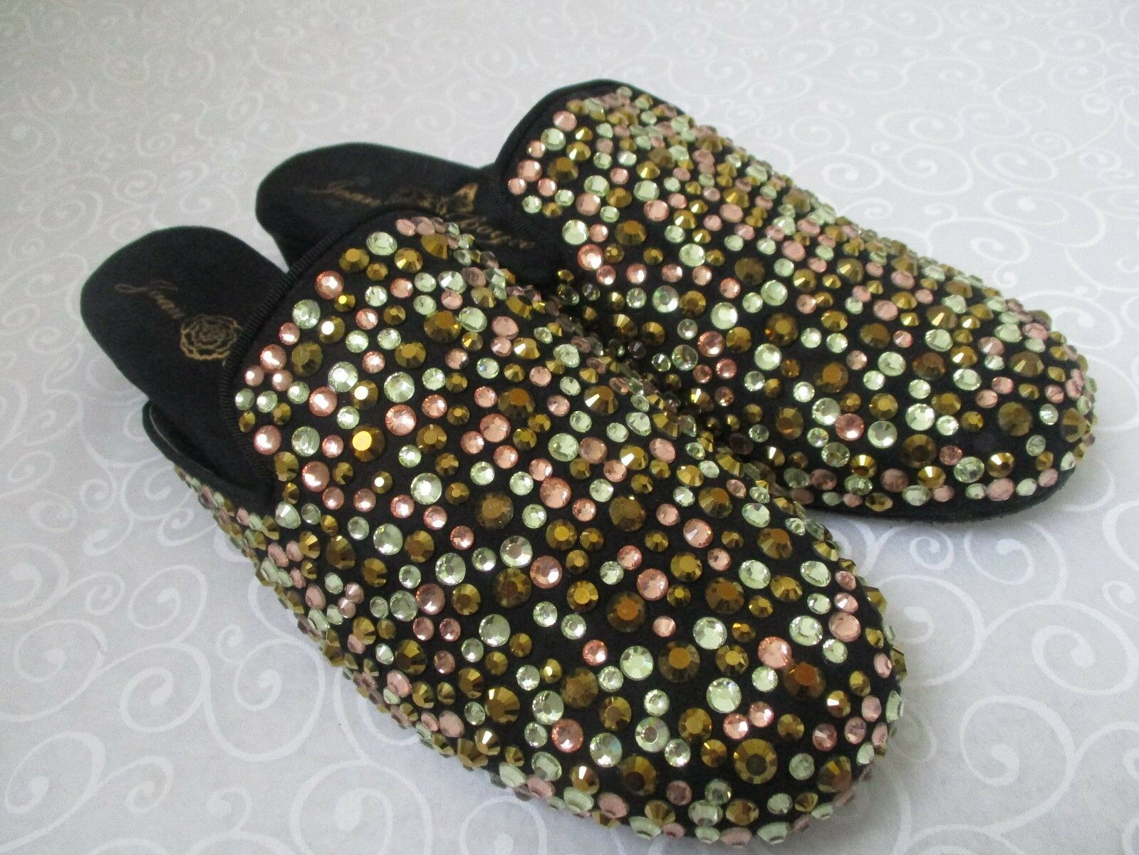 JOAN BOYCE SIZE MULTI-COLOR RHINESTONE SLIDES Schuhe SIZE BOYCE 8 1/2 M - NEW d4504b
