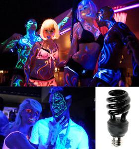 1 pz Lampadina Lampada UV E27 28W LUCE di Wood Discoteca Feste DJ NEON Nera