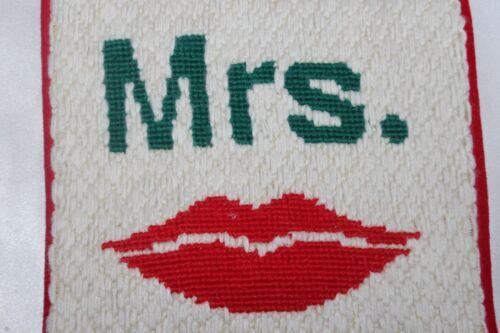 Neiman Marcus Jonathon Adler Christmas Xmas MR MRS Needlepoint Stocking Pr NEW