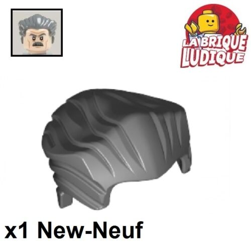 b gray 64798 NEUF 1x Minifig cheveux coiffure hair court lisse gris f//d Lego