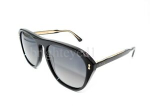 984328467fb Image is loading Authentic-GUCCI-Polarized-Black-Sunglasses-GG0128S-007-NEW