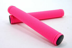 TRACK-FIXIE-FIXED-GEAR-BIKE-DROP-BAR-STUNT-KICK-SCOOTER-HANDLEBAR-BAR-GRIPS-PINK