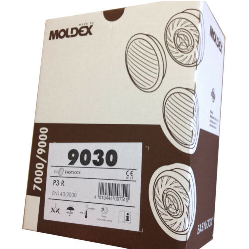 Box of Moldex 9030 P3R Particular Filter for Series 7000 /& 9000 Mask 6 Pairs