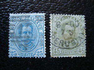 Italy-Stamp-Yvert-and-Tellier-N-61-62-Obl-A11-Stamp-Italy-P