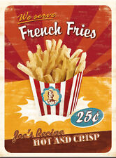 French Fries Chips Kitchen Food Cafe Diner Bistro Retro Gift Fridge Magnet Art