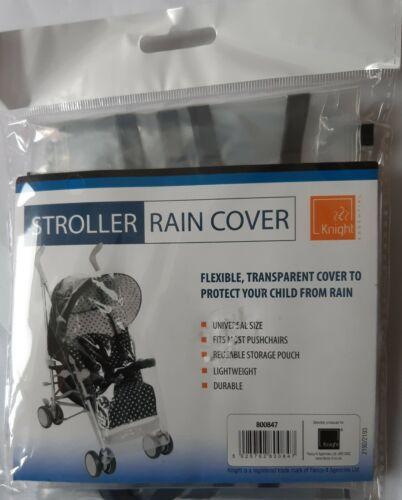 Transparent Universel Poussette STROLLER Housse de pluie avec ourlet noir nouveau