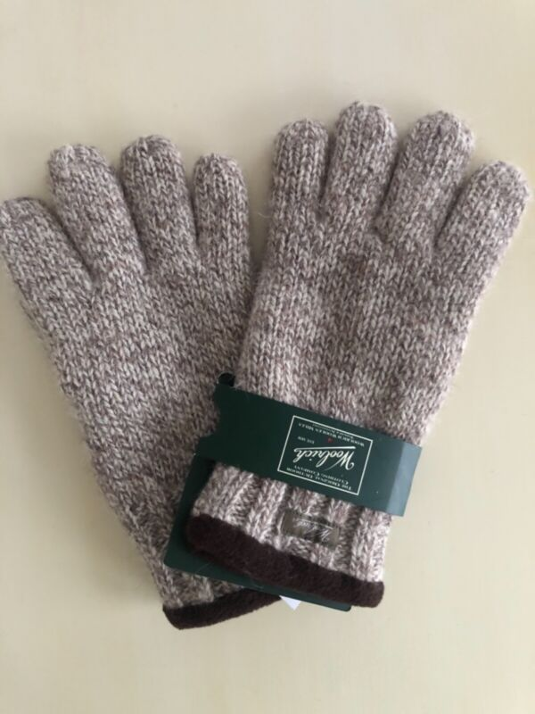Woolrich Men's Gloves, Vanilla, Beige Tweed Wool, Size M/l To Enjoy High Reputation At Home And Abroad