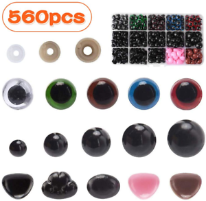 560Pcs Yeux Et Nez De Sécurité En Plastique 170Pcs Oeil De Sécurité Coloré