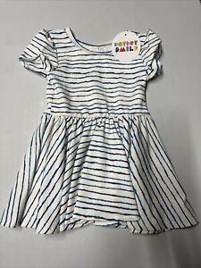 Dot Dot Smile Girls Dress Size 6/12 months White/Blue Stripped NWT