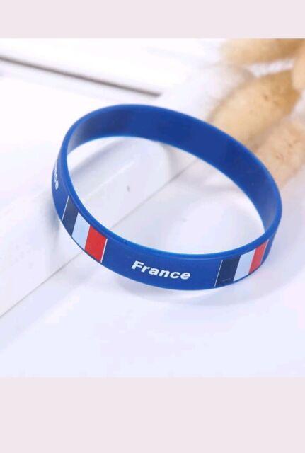 Bracelet Silicone FRANCE COUPE DU MONDE 2018 VENDEUR FRANÇAIS 🇫🇷