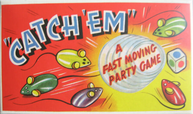 CATCH 'EM MOUSE BOARD GAME A FAST MOVING FUN RETRO PARTY FAMILY GAME