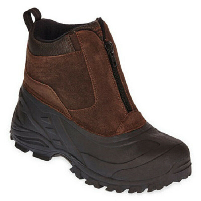 New Weatherproof Men Tahoe Suede Winter Boot Brown Size 9
