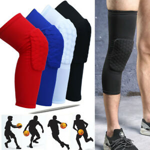 Crashproof Antislip Basketball Leg Knee Sleeve Protector Gear Honeycomb Pad M-XL