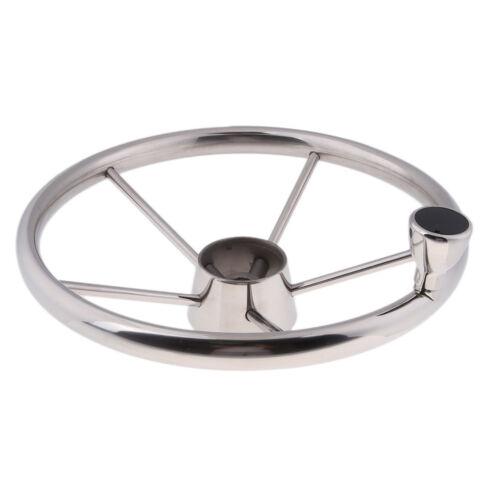 "13.5/"" Stainless Steel Marine Boat Yacht Steering Wheel 5 Spoke 3//4/"" Shaft"