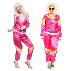 4fe0720d7782 Detalles de Disfraz de ochentera en chándal para mujer conjunto deportivo  de los años 80 Pop