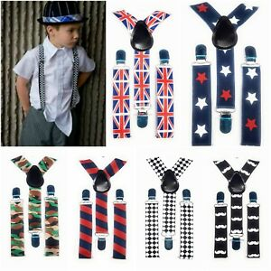 Kid Children Boy Costume Party Rainbow Colorful Multicoloured Brace Suspender