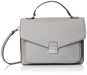 Satchel taglia New Womens Becks unica Off Look grigio Structures white 8IBqBfnaO