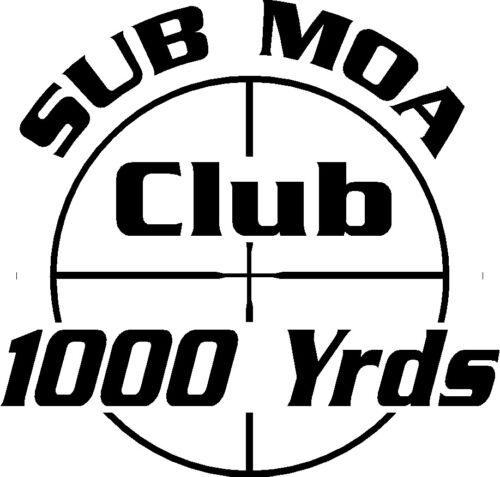 SUB MOA 1000 YRD TARGET AR Ammunition Bullet exterior oval decal sticker car