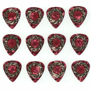12-Pack-HEART-LOVE-JESUS-FAITH-CHURCH-Medium-Gauge-351-Guitar-Picks-Plectrum