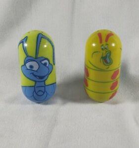 Disney-Kelloggs-Lot-Beanz-Weeble-Wobble-Flik-19-and-Heimlich-24-A-Bugs-Life