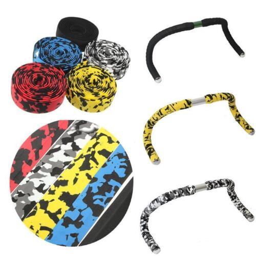 2X Bike Tape Bicycle Bar Cork Handle Handlebar Wrap Ribbon Antiskid Bar Plugs