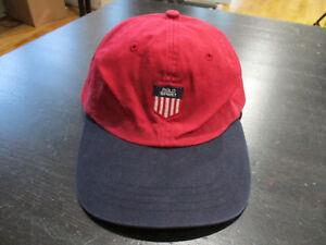 d9f74d5d VINTAGE Ralph Lauren Polo Sport Strap Back Hat Cap K Swiss Shield ...
