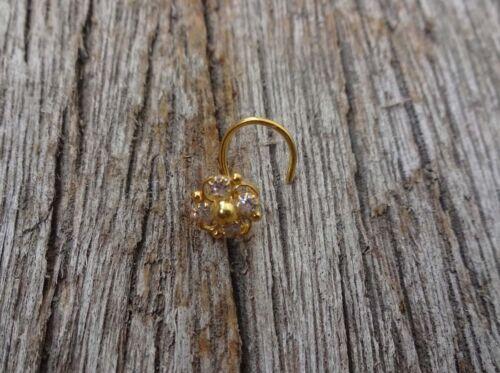 Gold Nose Stud Indien Nez Bague Diamant Nez Hoop Piercing Au Nez Mère Jour vente