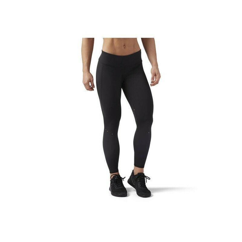 PANTALONE REEBOK CROSSFIT CD6473 W LASERCUT LEGGINGS  NERO