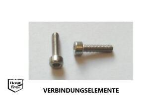 25 Stück DIN 912 M1,6X6 schwarze Schrauben EDELSTAHL A2