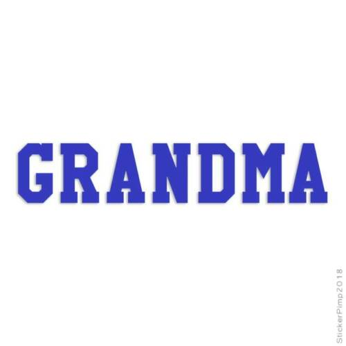 Size #1544 Grandma Decal Sticker Choose Color