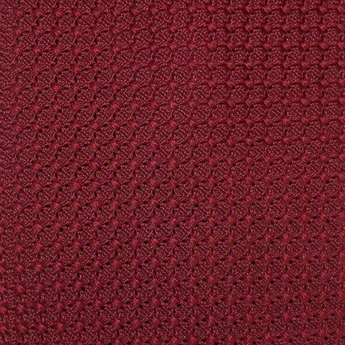 DORMEUIL Men's Burgundy SOLID Woven Silk GRENADINE