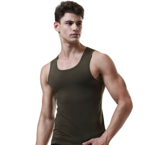 Men Tank Sport Vest Breathable Self-cultivation Fitness Bottoming top Underwear