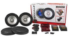"""Rockville RVL6KIT 6.5"""" 800Watt/Pair Component Car Audio Speakers Aluminum Cone"""