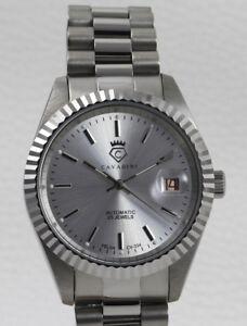 Cavadini-Automatic-Watch-Leonardo-CV-334-Caliber-Felsa-Swiss-Made-Steel-Silver