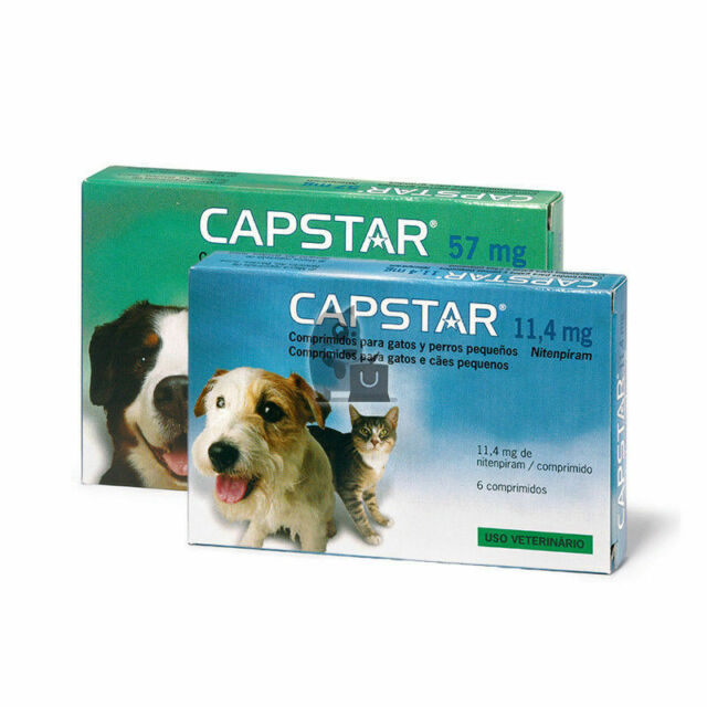 6 Comprimés CAPSTAR Anti-puces Chiens 57mg - (dogs Only ...